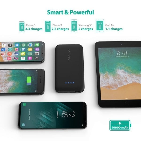 RAVPower 10000mAh Portable Charger with Quick Charge 3.0 (4)