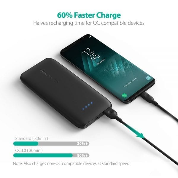 RAVPower 10000mAh Portable Charger with Quick Charge 3.0 (6)