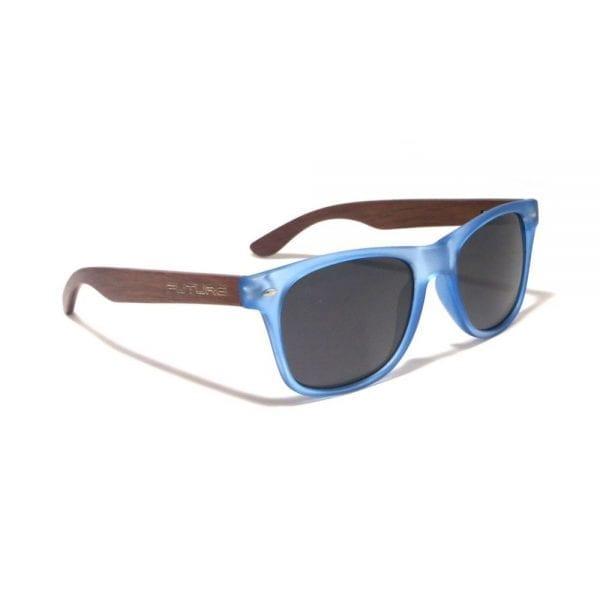 Future Wear Ebony Wood Polarized Shades - Frosted Blue (1)