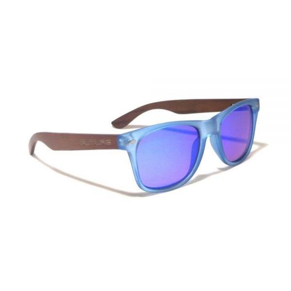 Future Wear Ebony Wood Polarized Shades - Frosted Blue (2)