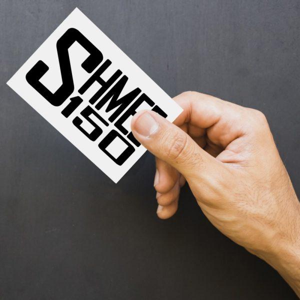 Shmee150 Logo Decal Black Large
