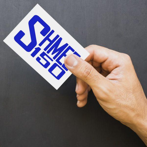Shmee150 Logo Decal Blue Large