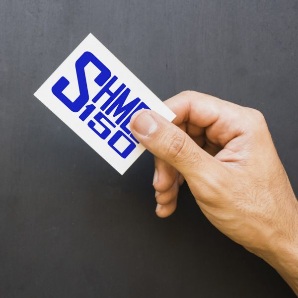 Shmee150 Logo Decal Blue Small